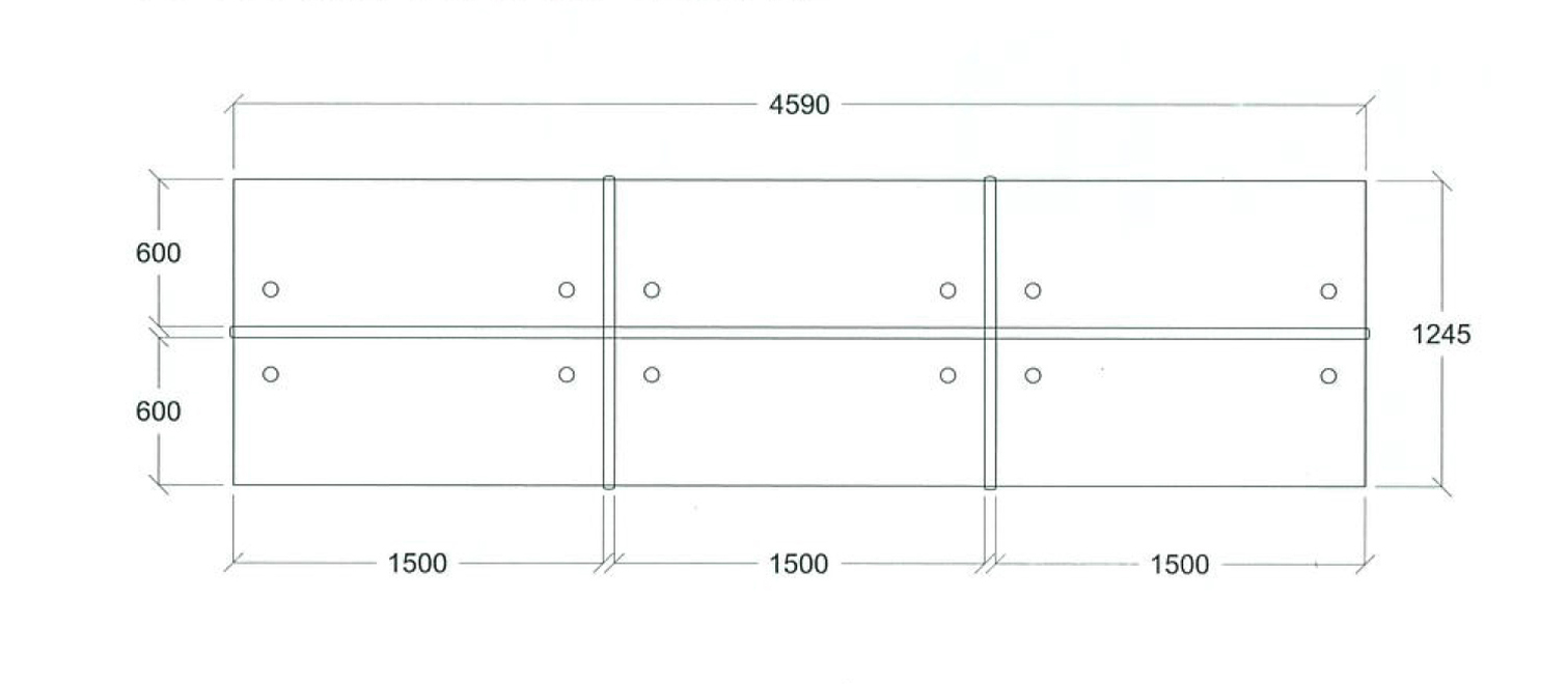 desking system drawing