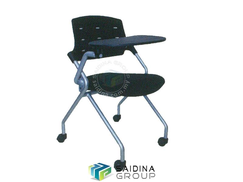 kerusi pelajar beroda dan meja boleh lipat
