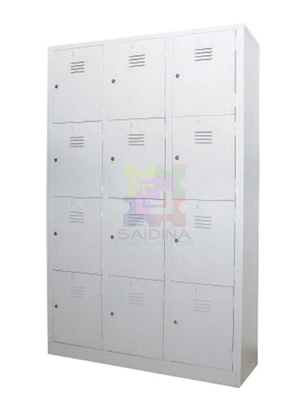 multiple compartment locker