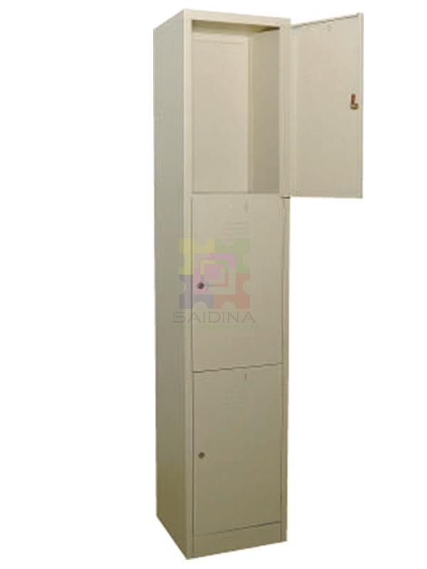3 compartment locker