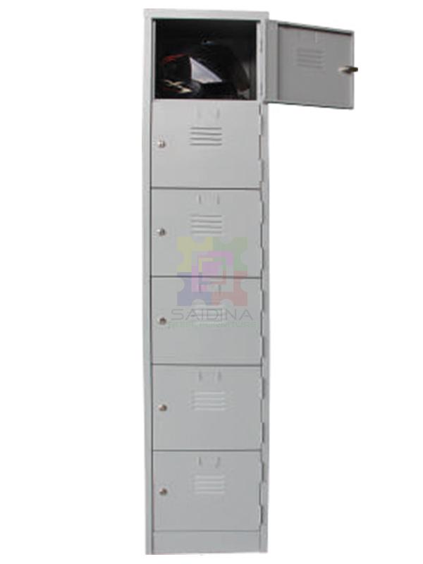 6 compartment locker