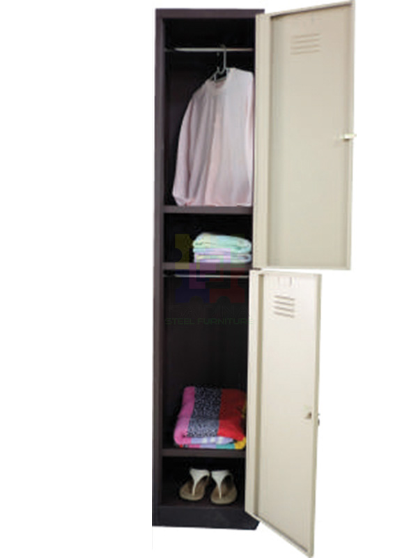 2 compartment locker