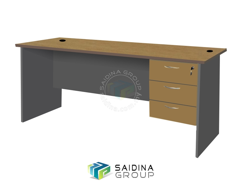 office table cw pedestal