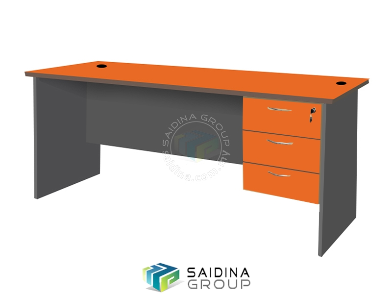 office table with hanging pedestal