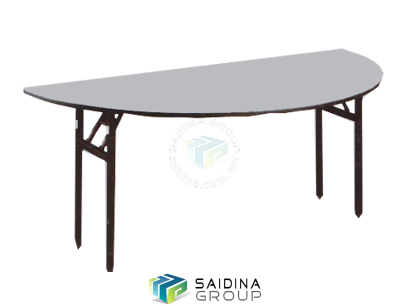 Half round banquet table
