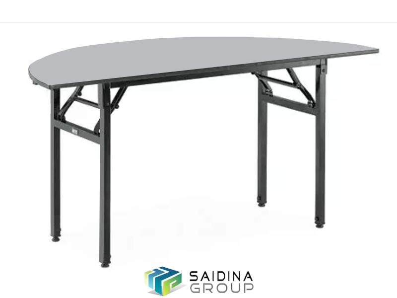 Half round banquet table