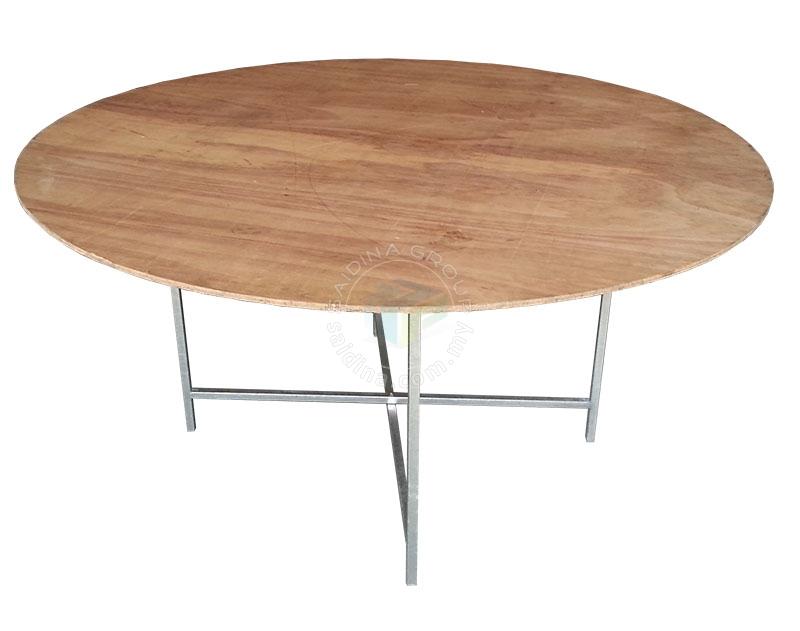 meja bulat lipat