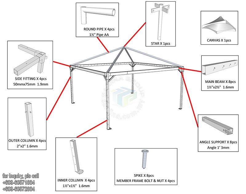 pyramid canopy structure