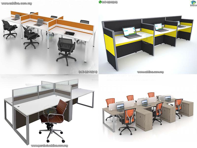 Workstation c/w Rectangular shape tables