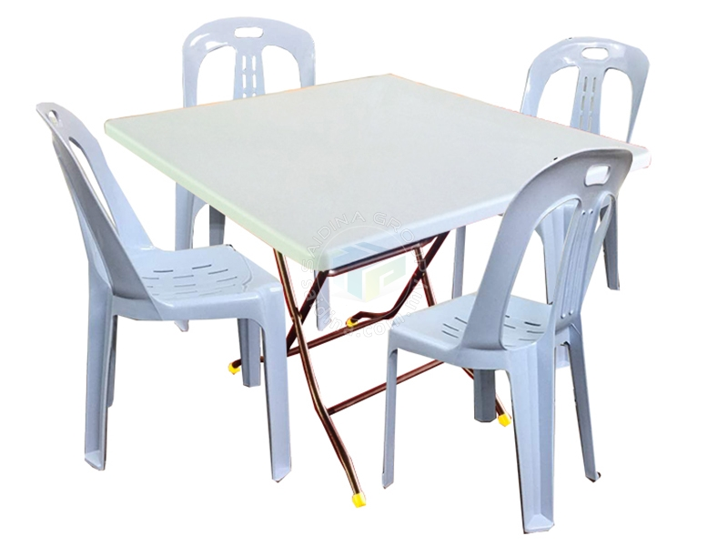 plastik folding table & chair mamak