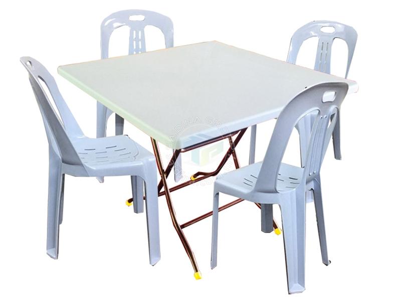 plastik folding table & chair mamak