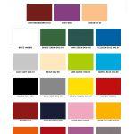 fiber glass colour chart
